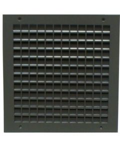 """1500A - Inverted Split """"Y"""" Blade Louver with Security Grille"""