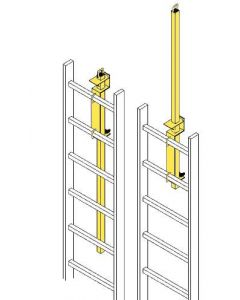 Safety Posts Ladder-Mount Safety Yellow Painted Steel-LP-4